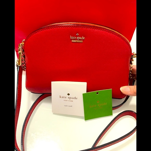 ❤️ NWT Kate Spade Red Leather ❤️ Crossbody Bag